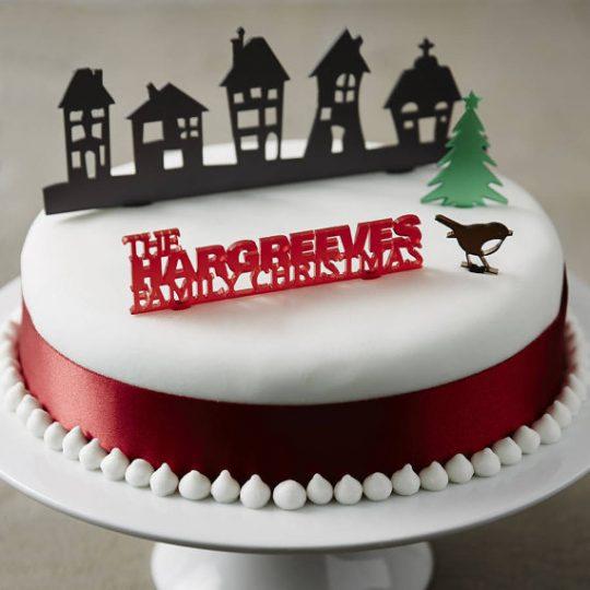 Christmas Cake Topper! What a cute idea!!