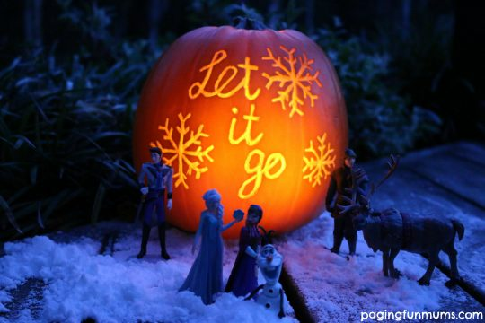 Frozen Inspired Halloween Pumpkin!