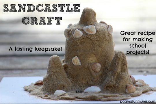 Sandcastle Craft - a childhood keepsake that will last forever!