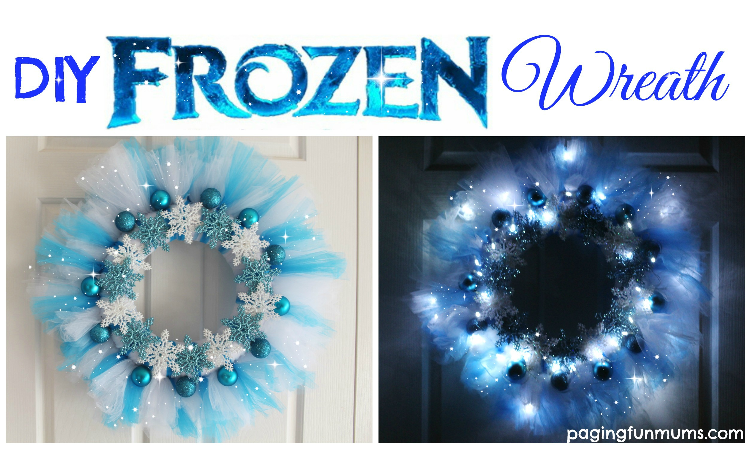 make your own frozen wreath elsa would be so proud