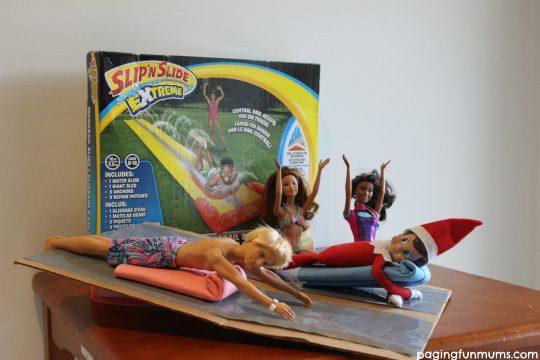 Elf on the Shelf slip and slide!