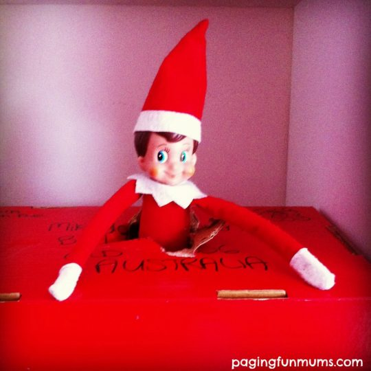 Elf on the shelf arrival idea!