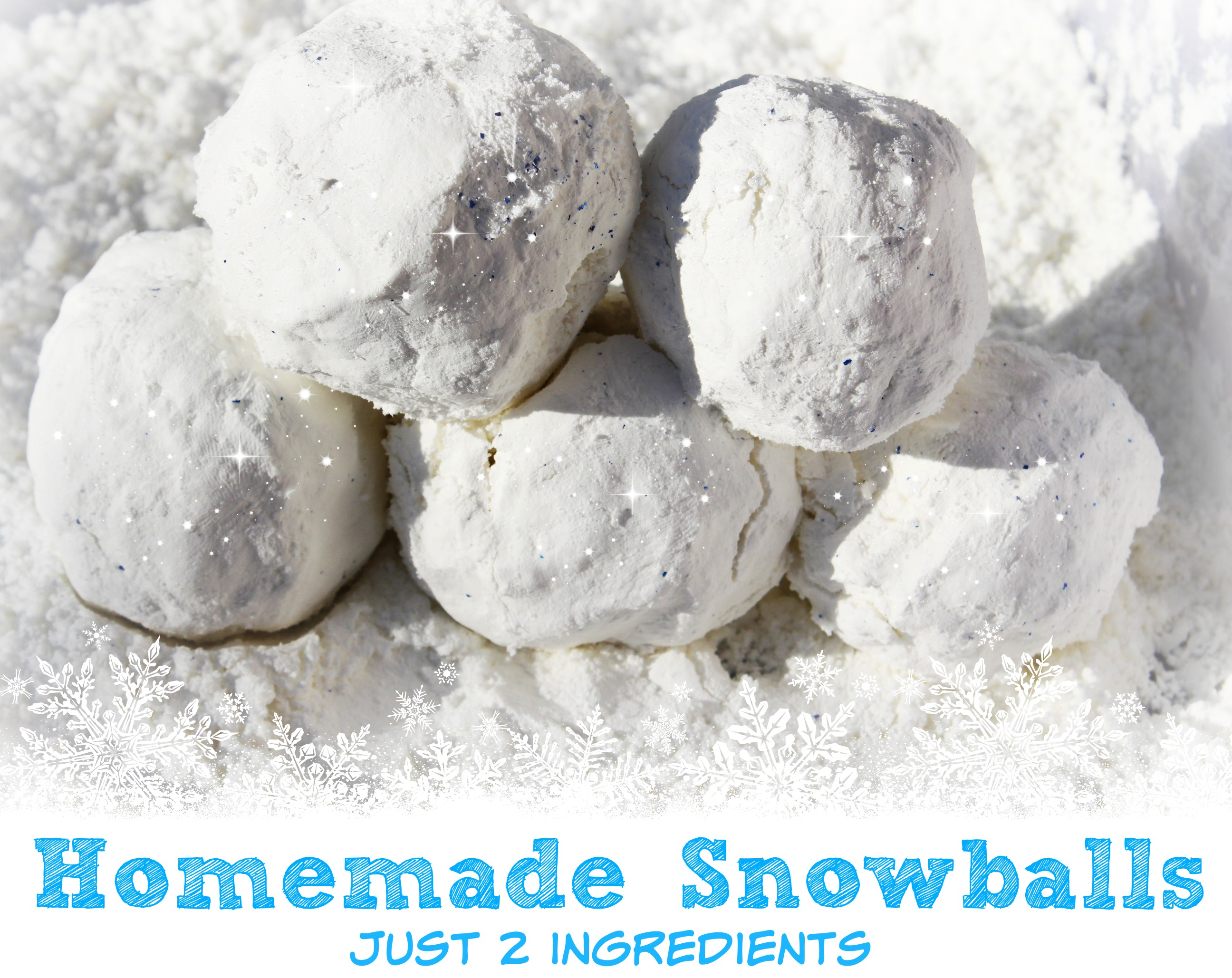 Homemade Snowballs…2 ingredients for a backyard snowball fight!