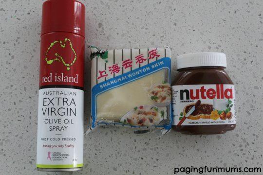 Nutella Wontons - ingredients