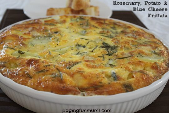 Rosemary, Potato & Blue Cheese Frittata - simple and delicious