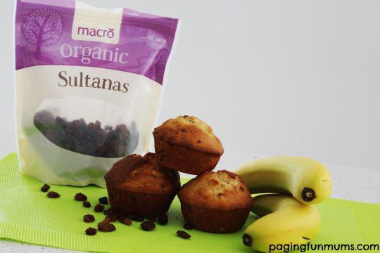 Macro Sultana & Banana Muffins