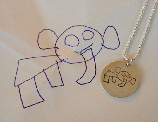Capture your child's art in these beautiful keepsakes! 7