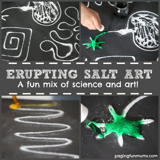 Erupting Salt Art - a FUN mix of science and art!