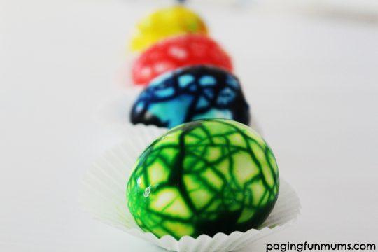 Beautiful marbled eggs