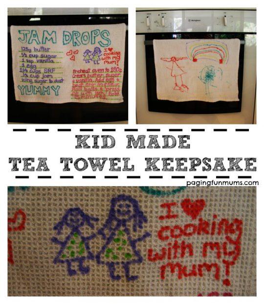 Kid Made Tea Towel Keepsake