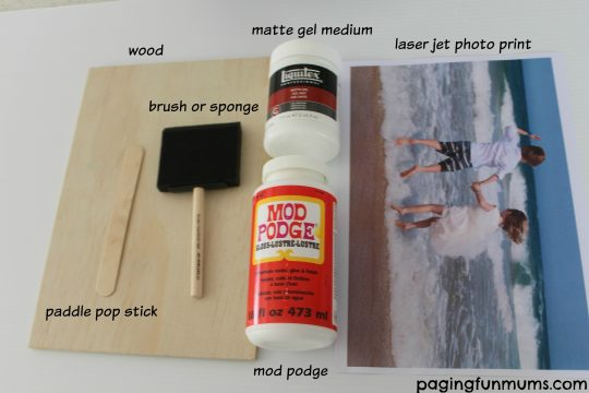 Transfer photo to wood - what you will need