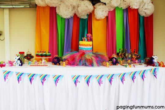 my little pony party backdrop