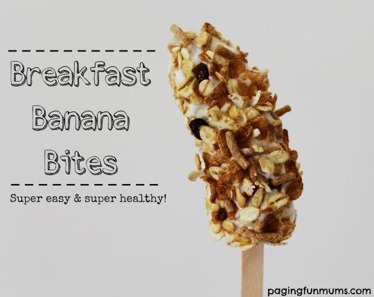 Breakfast Banana Bites