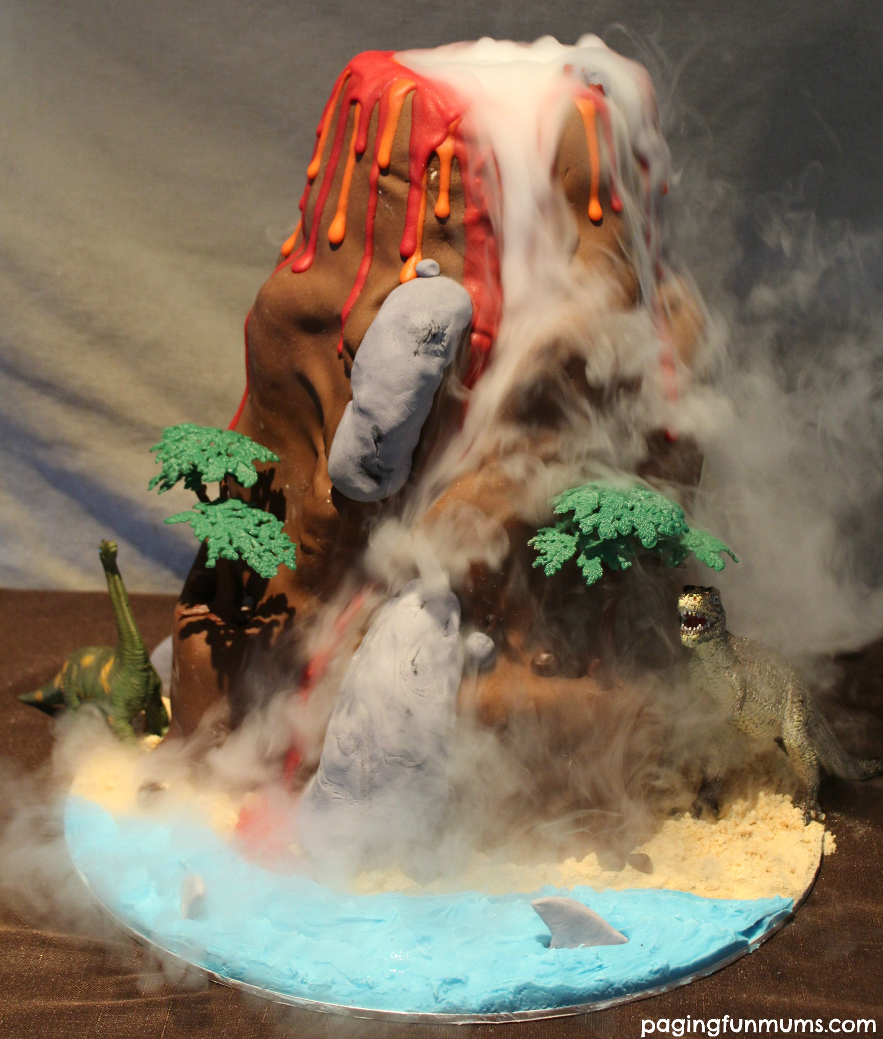 How To Make A Exploding Volcano Cake