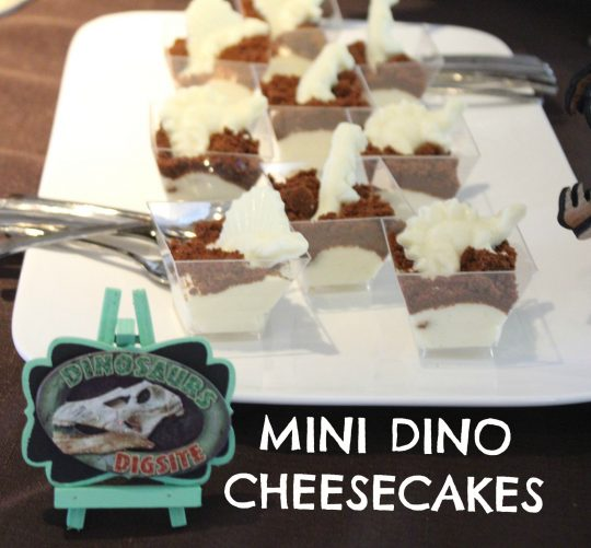 Mini Dinosaur Cheesecakes - FUN party food idea!