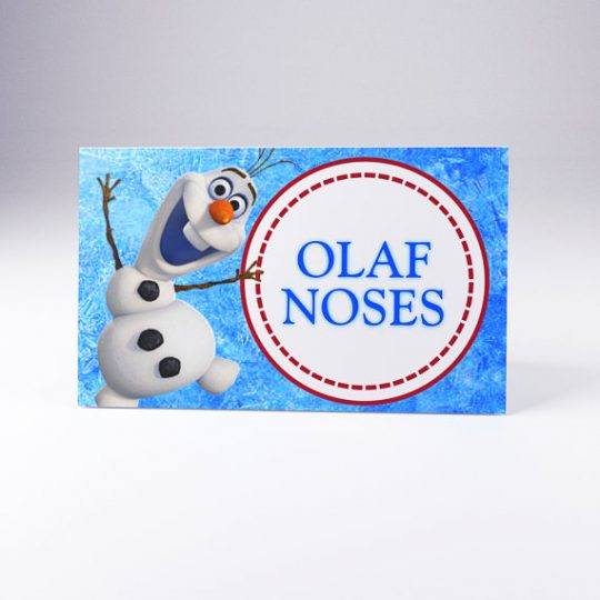 Olaf Noses party food labes