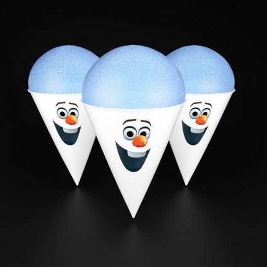 Olaf Snowcone Cups