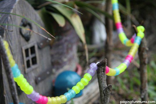 Fairy Garden Garland with glow in the dark beads!