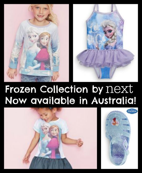Licenced Frozen clothing by Next now available in Australia!