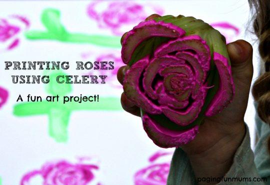 Printing roses using celery! Watch the fun video!