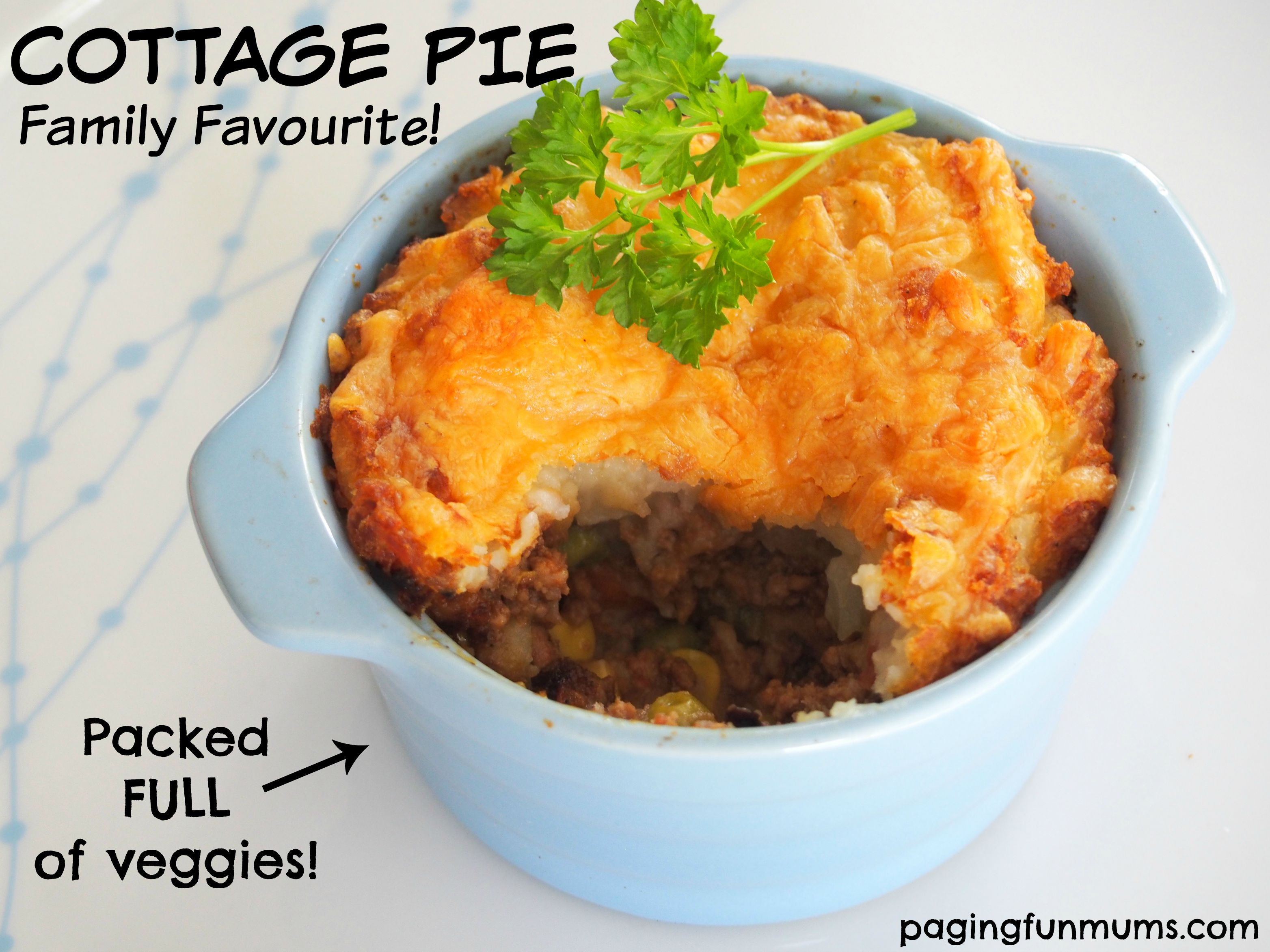 Cottage Pie – a family favourite!