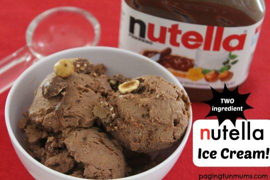 Two ingredient Nutella Ice Cream
