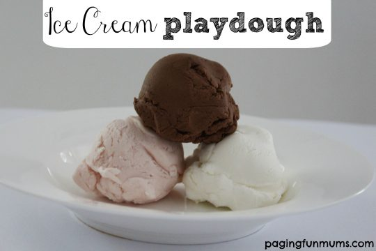 Ice Cream playdough scoops