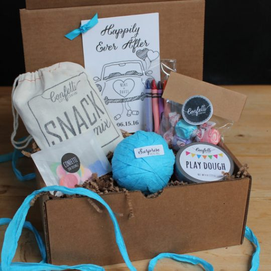 Kids Wedding Activity box! What a great wedding idea!