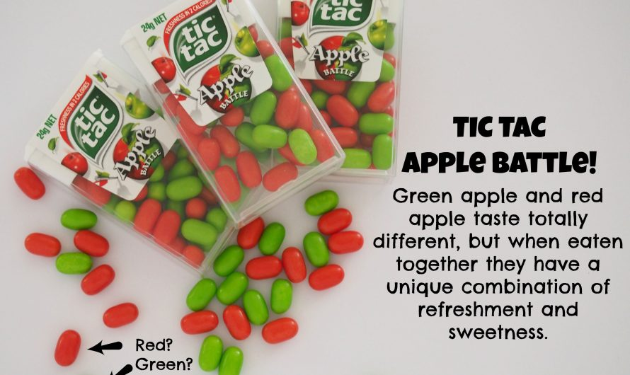 Tic Tac Apple Battle – NEW flavour combination!