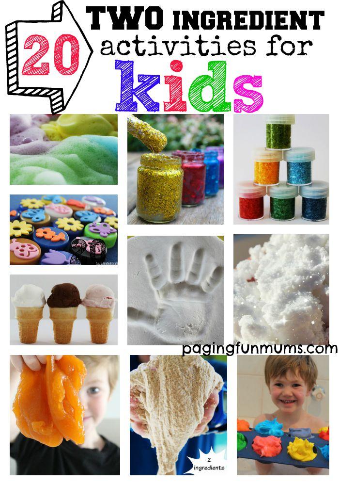20 TWO ingredients activities for Kids