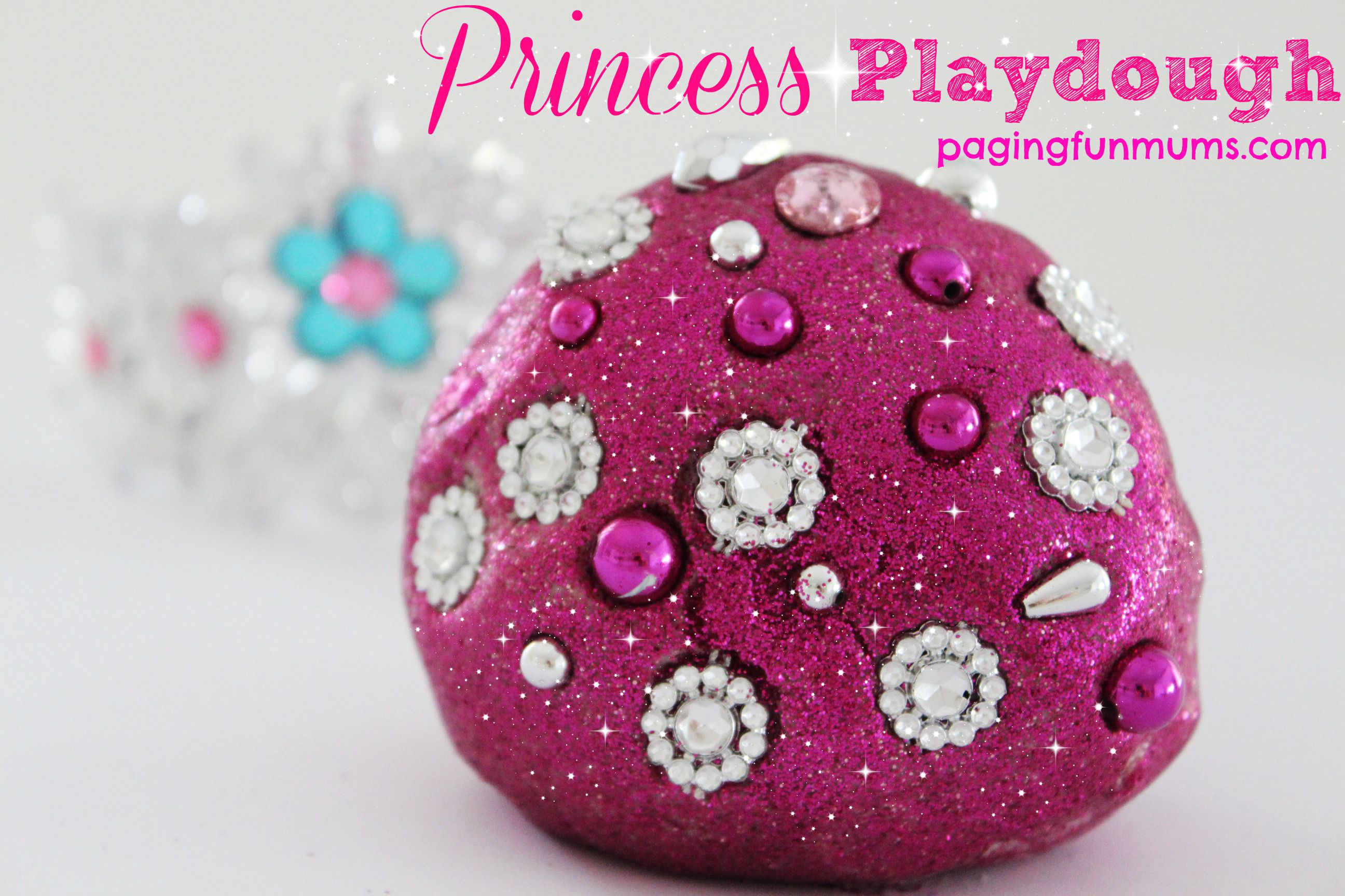 No Cook Princess Playdough