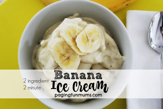 2 ingedient banana ice cream