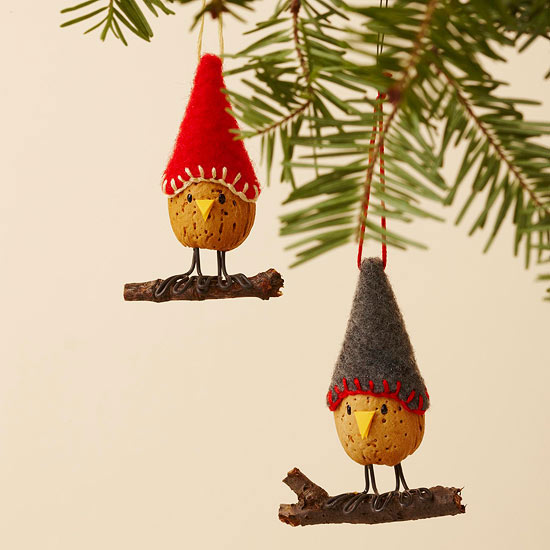 Sweet Little Almond Bird Ornaments | 50 Awesome DIY Yule Decorations and Craft Ideas You Can Make for the Winter Solstice