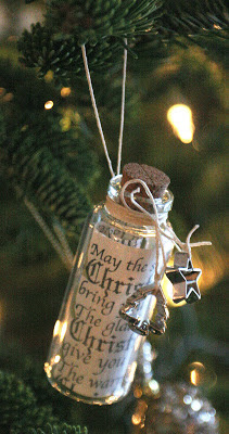Christmas Wish Message in a Bottle ornament