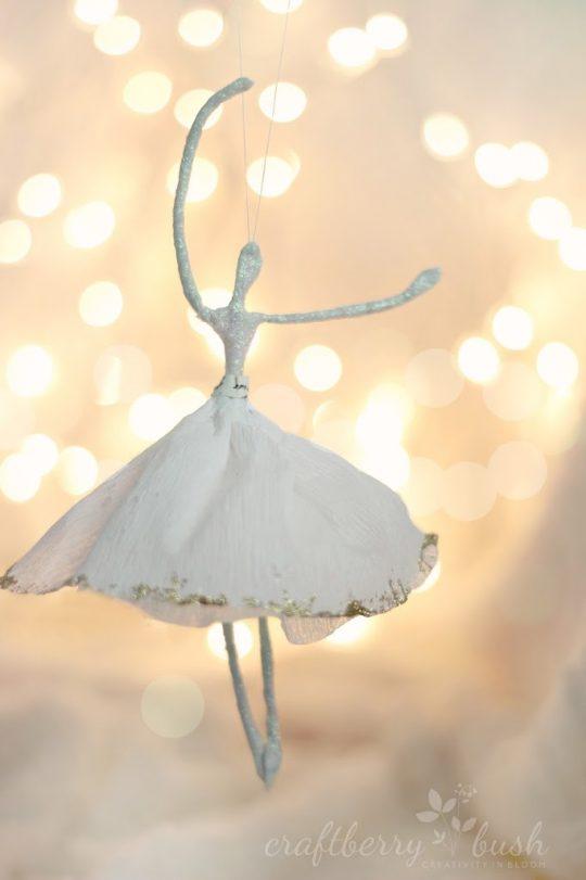 Crepe Paper Ballerina Ornament