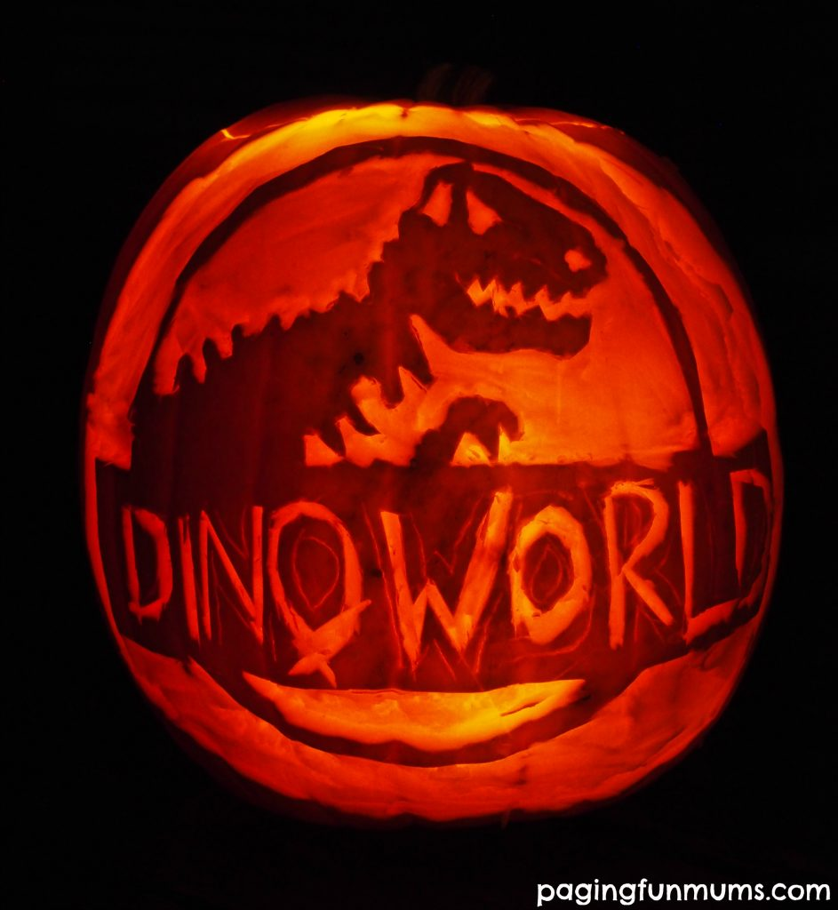 Dinosaur Carved Pumpkin!