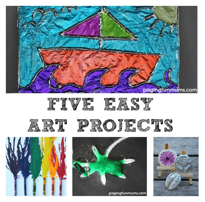 5 Easy Art Projects For Kids