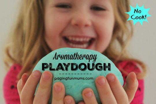 No Cook Aromatherapy Playdough