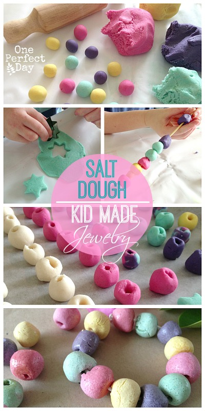Salt dough jewellery