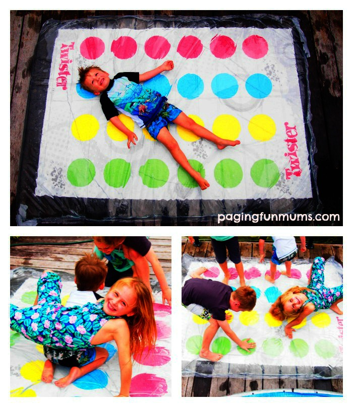 Turn your Twister game up a notch! WATER BLOB TWISTER! I'm pinning this for Summer!