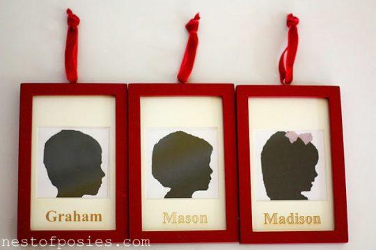 silhouette ornaments