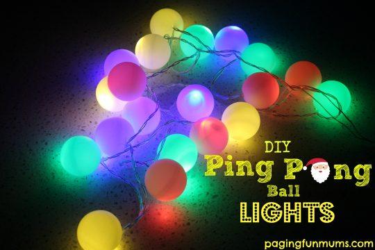 Christmas Light Balls.How To Make Adorable Christmas Lights Using Ping Pong Balls