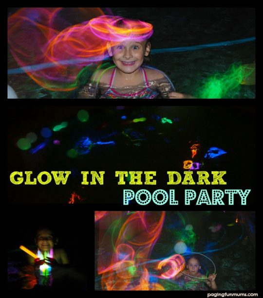 Glow in the dark pool party ideas!