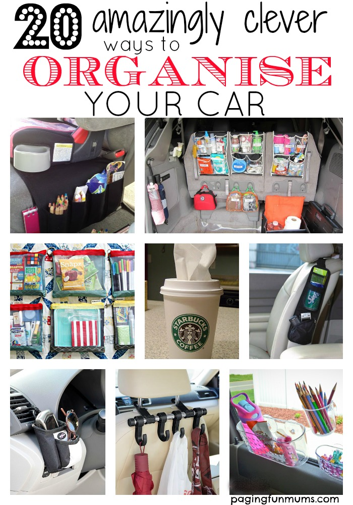 20 Amazingly Clever ways to Organise your Car