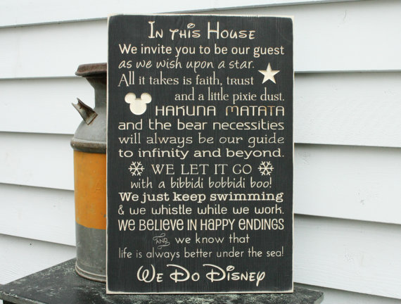 In this house we do Disney…