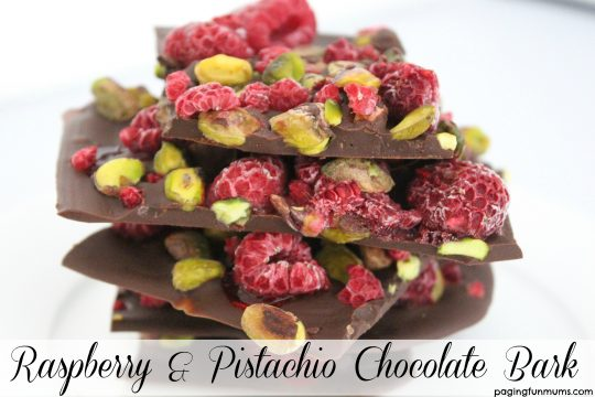 Raspberry & Pistachio Chocolate Bark