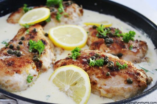 Delicious One Pot Creamy Lemon Chicken Piccata