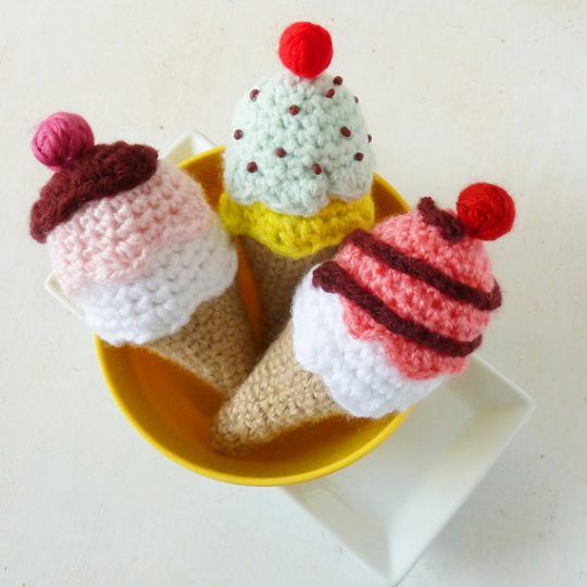 Crochet Ice Cream Rattle Pattern