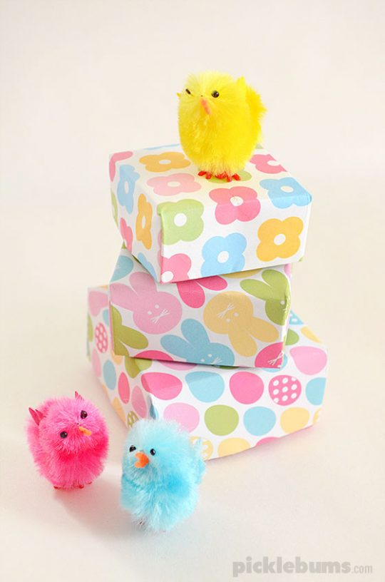 Print & Fold Easter Gift Boxes