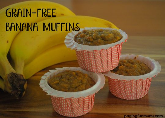 Healthy Grain Free Banana Muffins - perfect for the school lunch box!